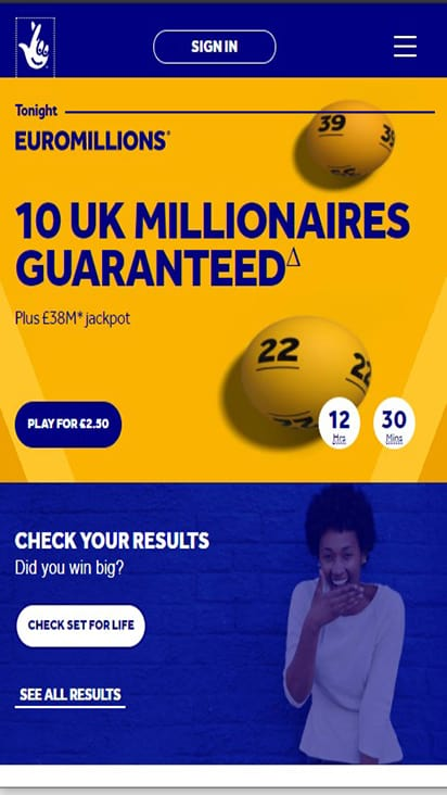 National Lottery home mobile