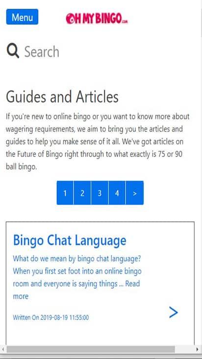 Ohmy Bingo promo mobile
