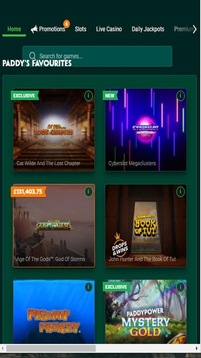 Paddy Power game mobile