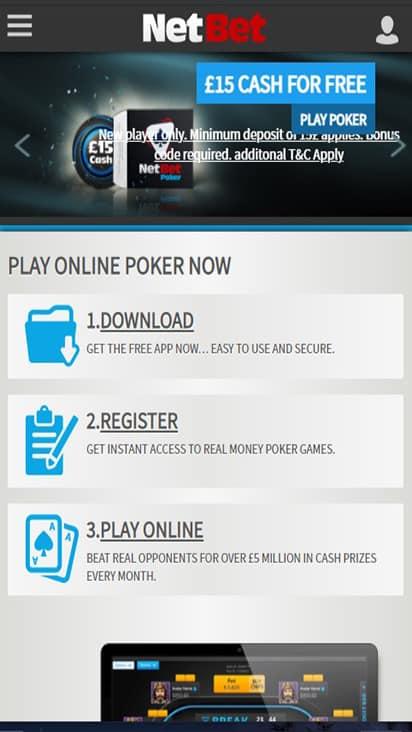 Poker NetBet home mobile