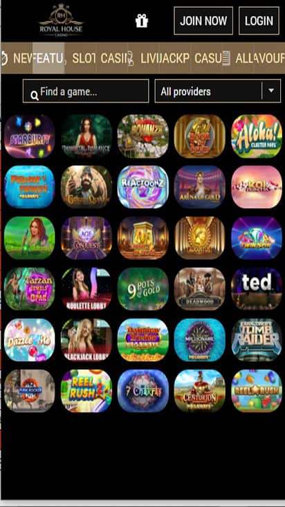 RH Casino game mobile