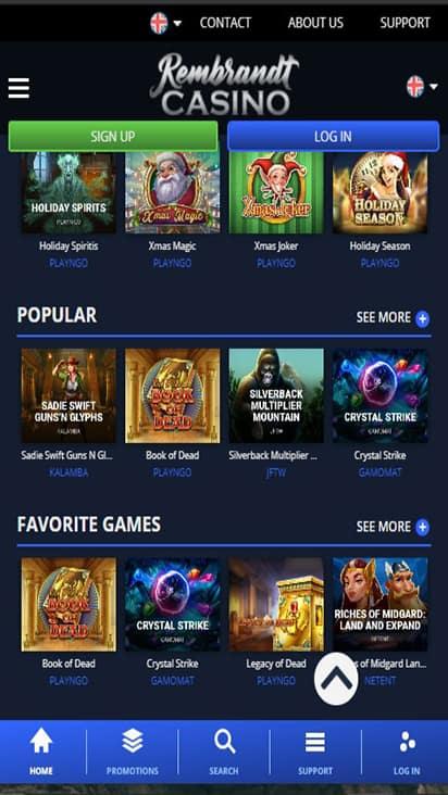 Rembrandt Casino game mobile
