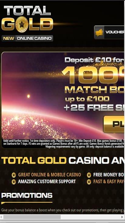 Royal Gold Casino home mobile