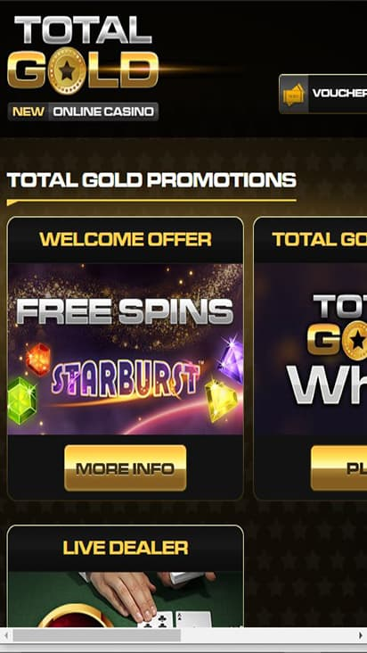 Royal Gold Casino promo mobile