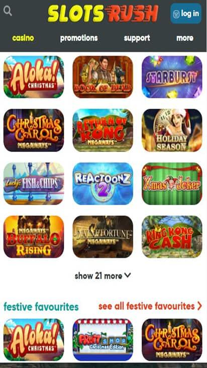 Slots Rush game mobile