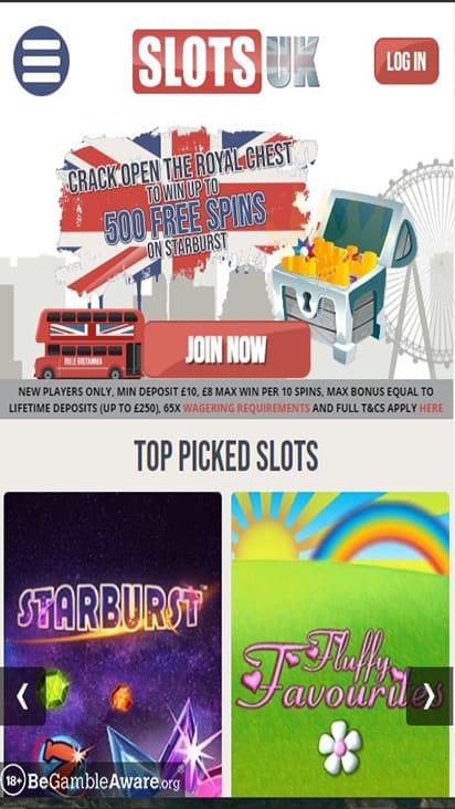 Slots UK home mobile