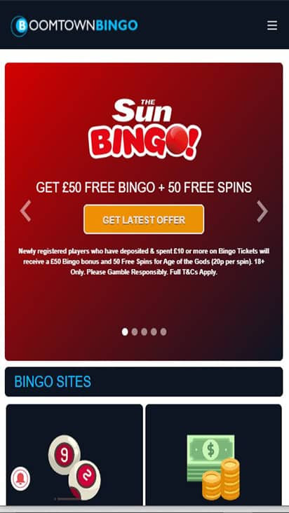Spin and Bingo home mobile