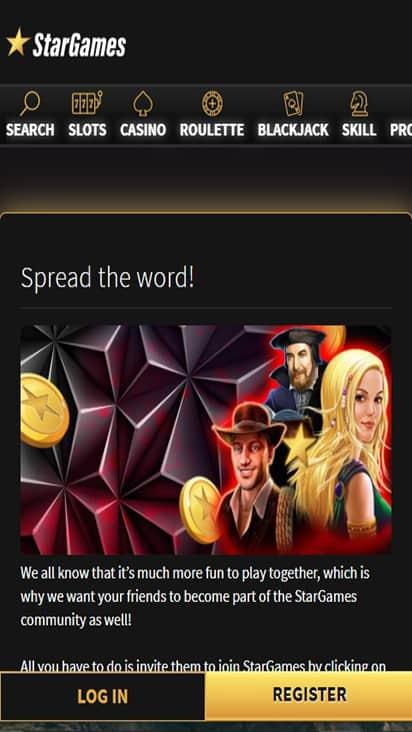 Star Games promo mobile