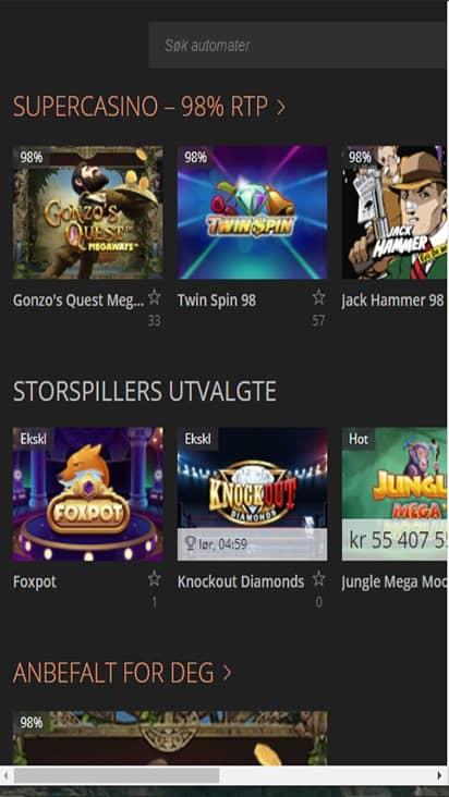 Stor Spiller game mobile