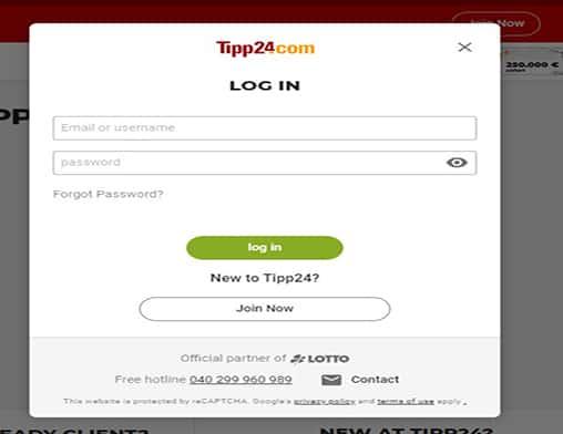 Buzz Bingo login page