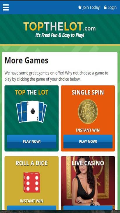 TopTheLot game mobile