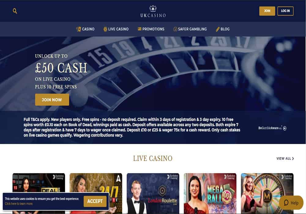 Pink Casino home page