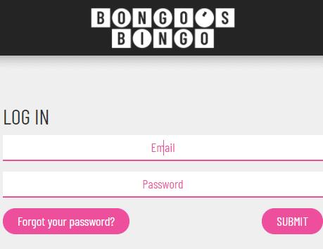bongo's bingo login