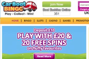 carboot bingo front image