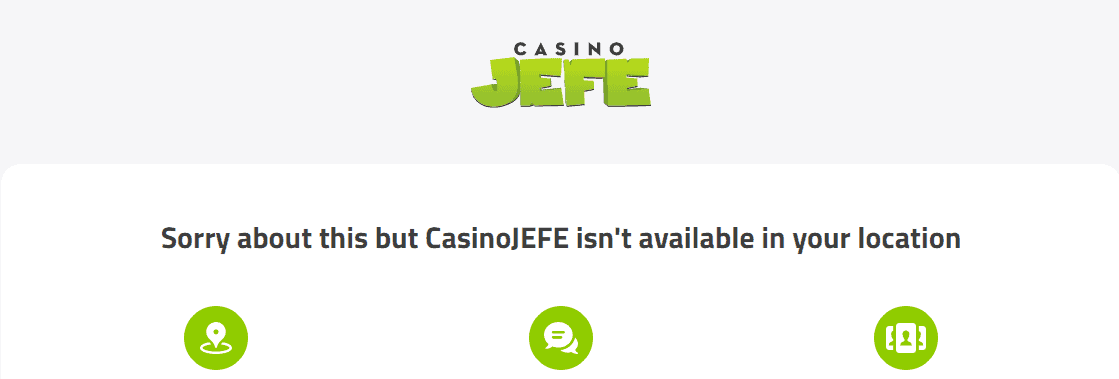 casino jefe home restrictions