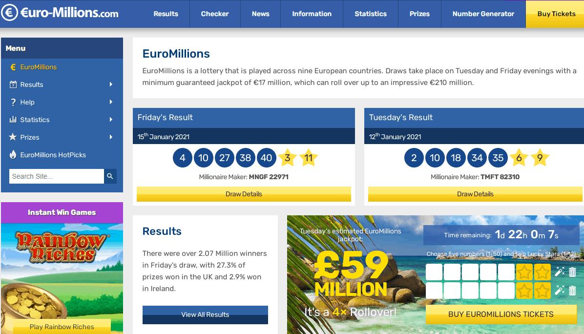 euro millions home