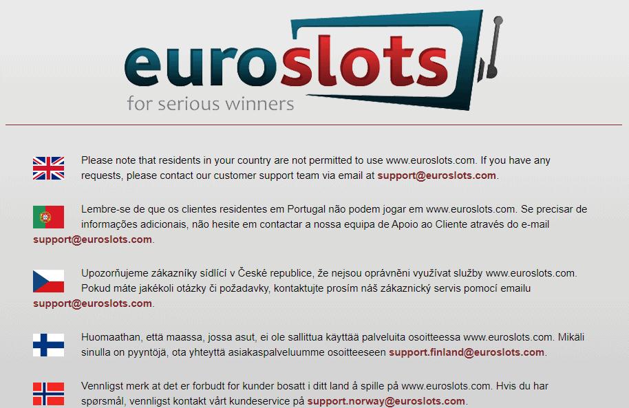 euroslots home restrictions NA