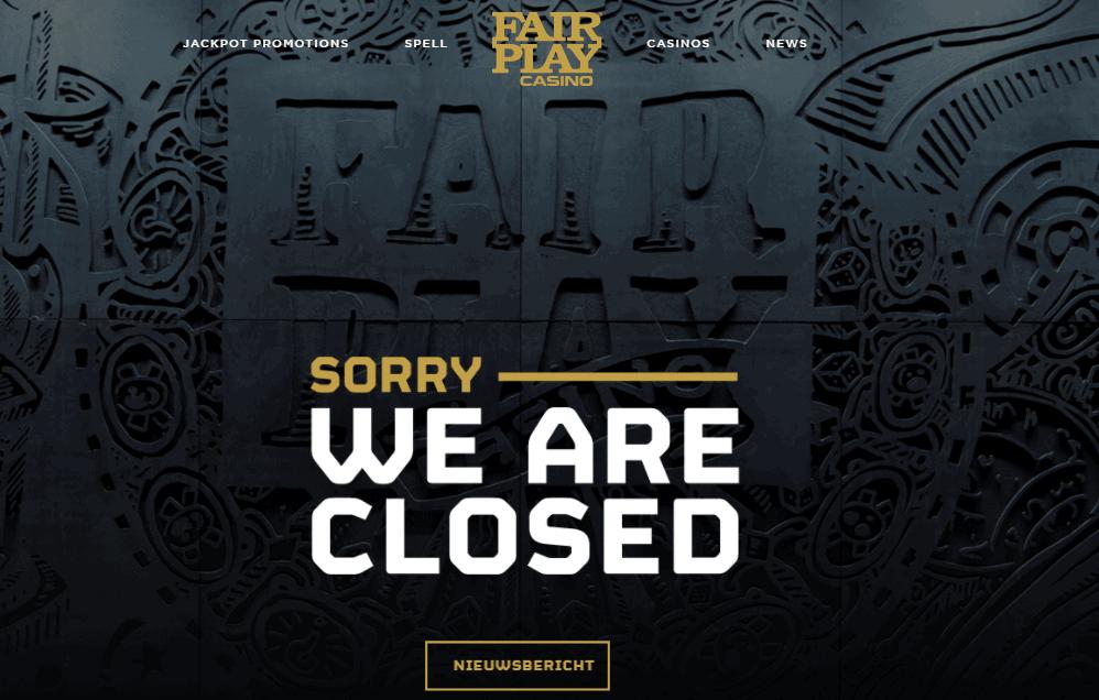 fair play casino home closed NA