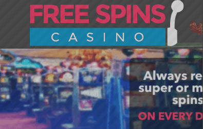 free spins casino front image
