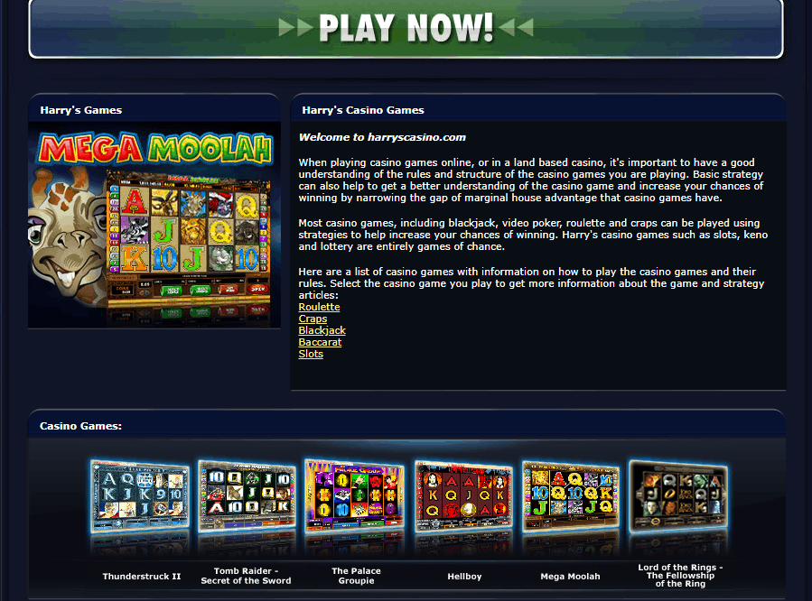 harry's casino games