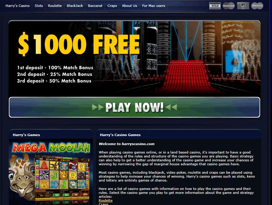 harry's casino promotions