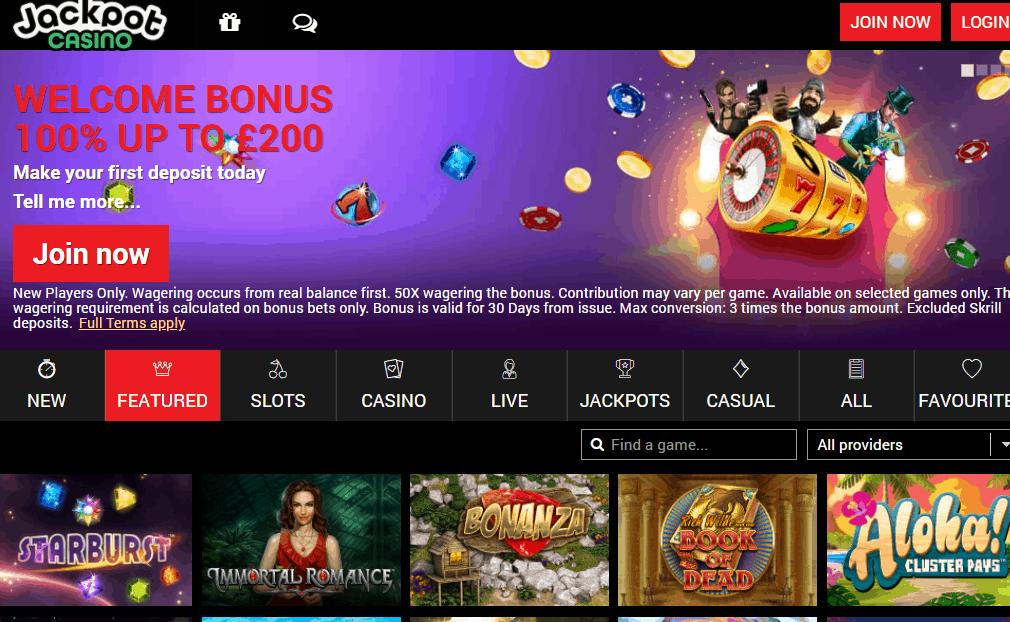 jackpot casino home