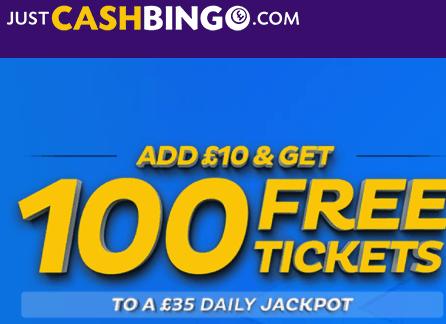just cash bingo front image