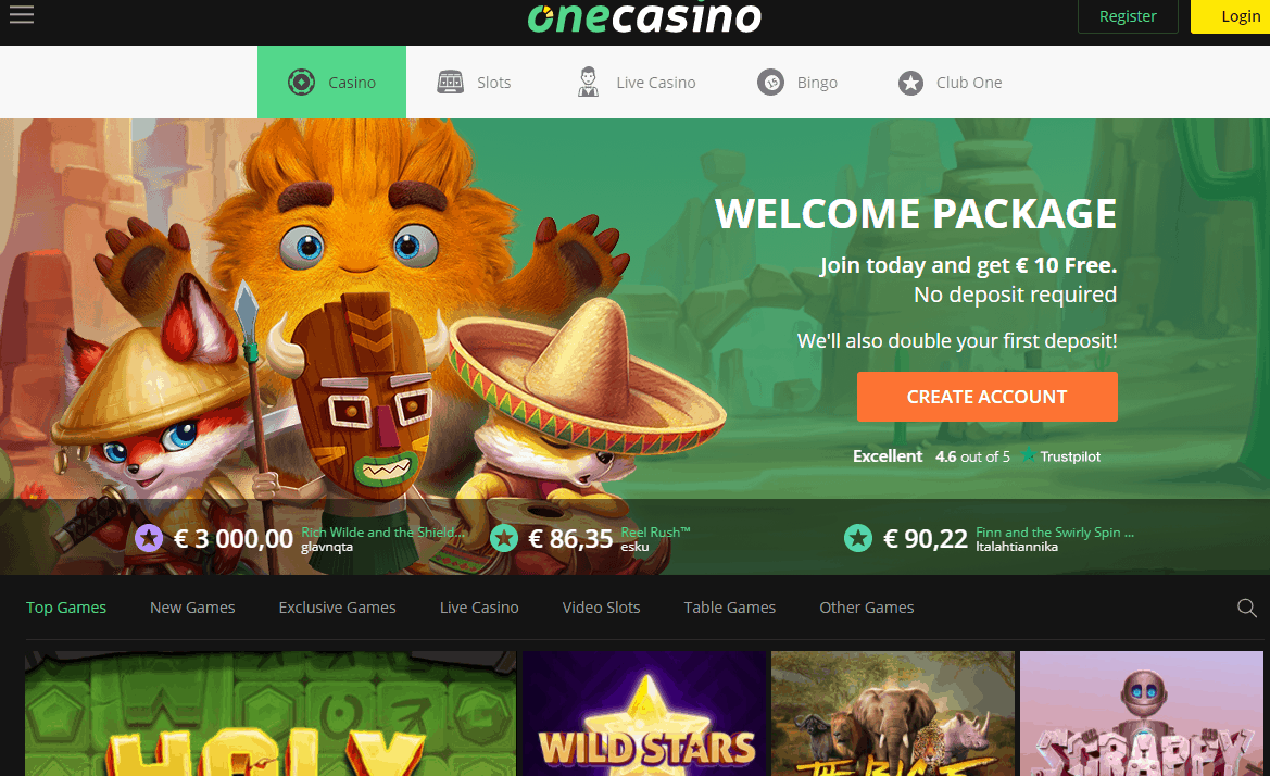 one casino home