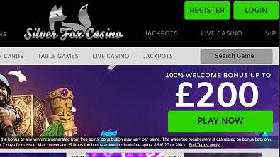 silver fox casino front image
