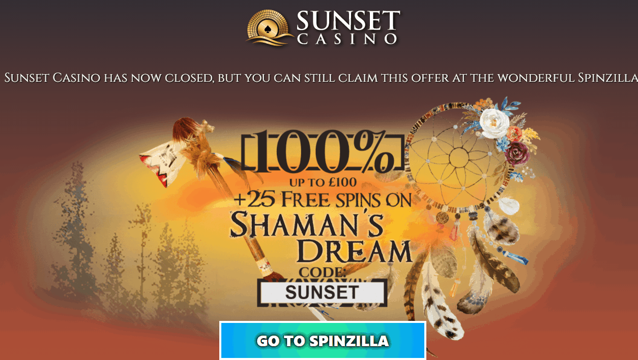 sunset casino home closed