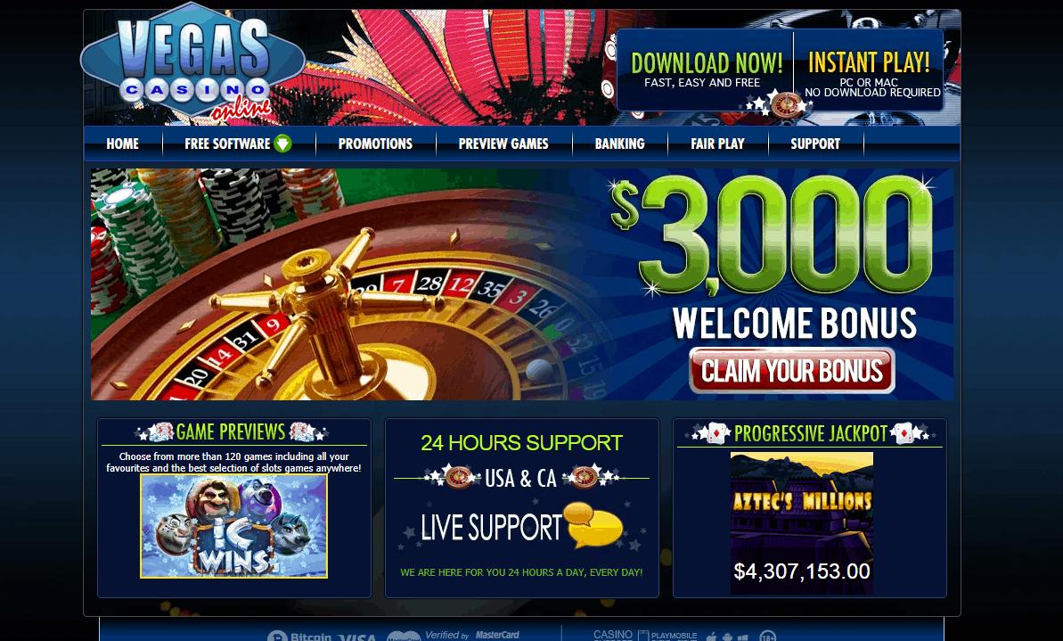 vegas casino online home