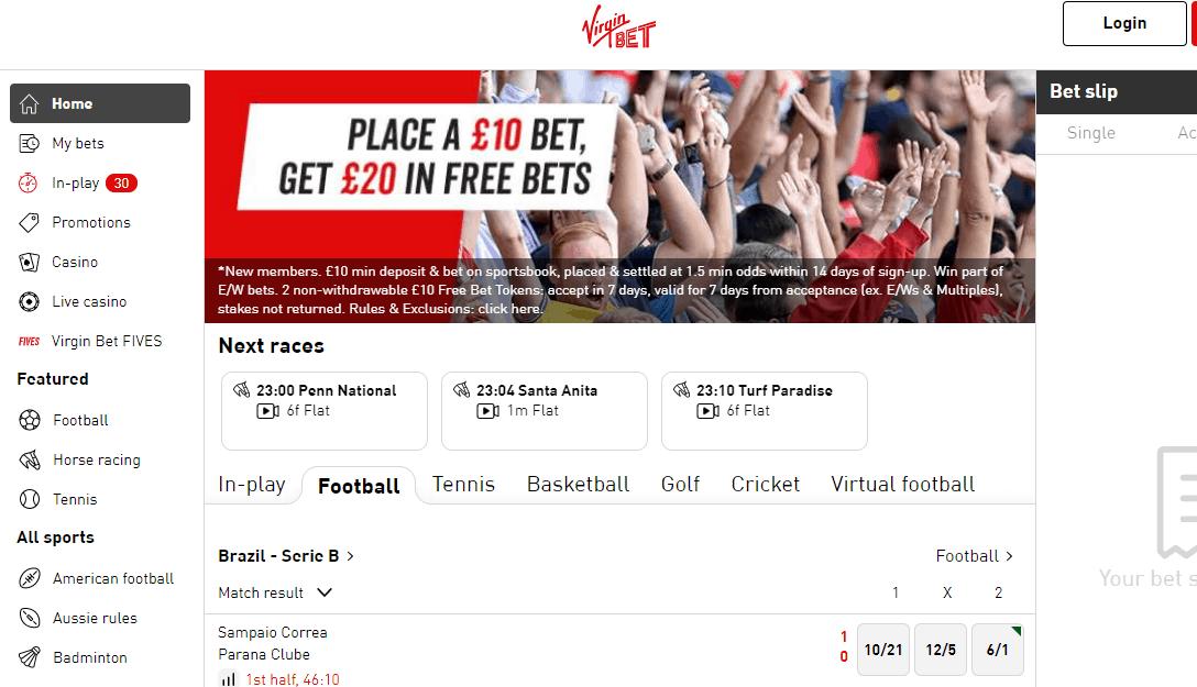 virgin bet promotions