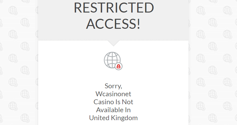 wcasino online net home restriction NA