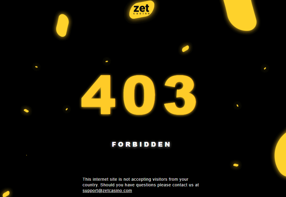 zet casino home restriction NA