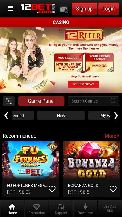 12-Bet Games Page