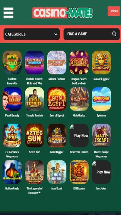 Casino Mate game moble