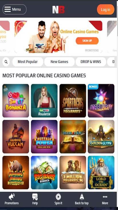 Casino NetBet home mobile