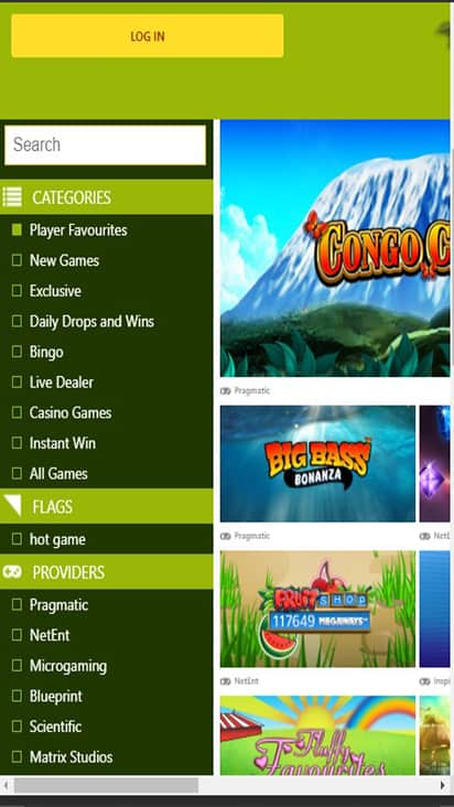 Jungle Spins game mobile