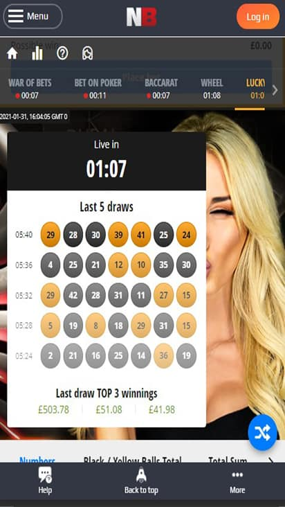 Lottery Netbet home mobile
