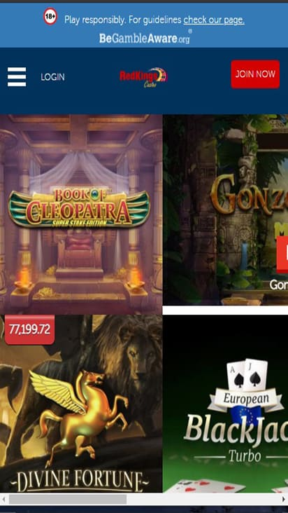 Red Kings Casino game mobile