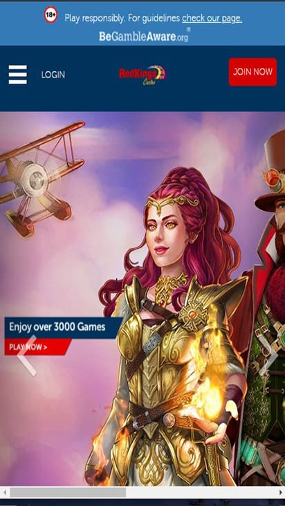 Red Kings Casino home mobile