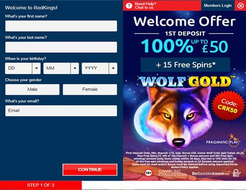 play ojo sign up page
