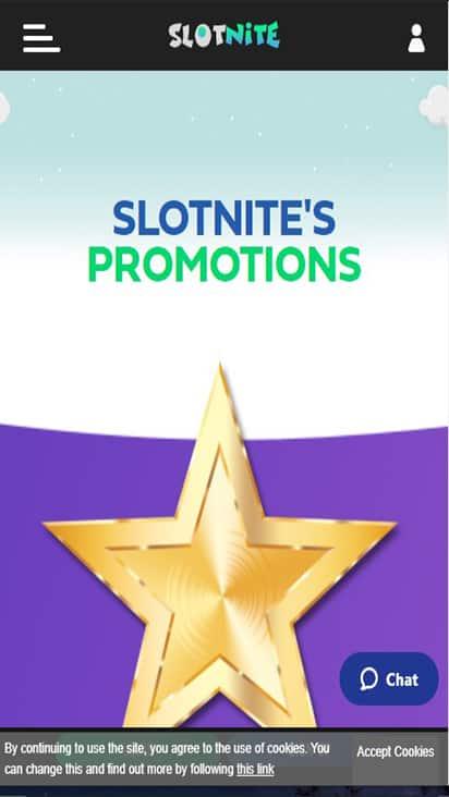 Slotnite promo mobile