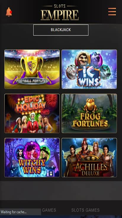 Slots Empire game mobile