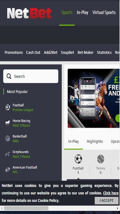 Sport Netbet home mobile