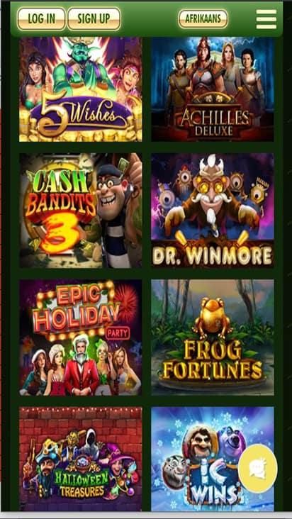 Springbok Casino game mobile