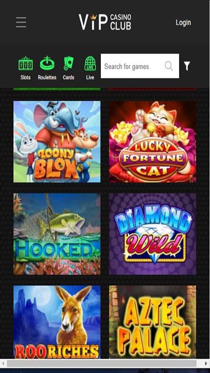 VIP Club Casino game mobile