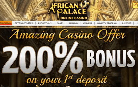afican palace casino front image