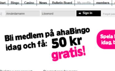 aha bingo front image