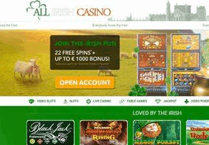 all irish casino front image